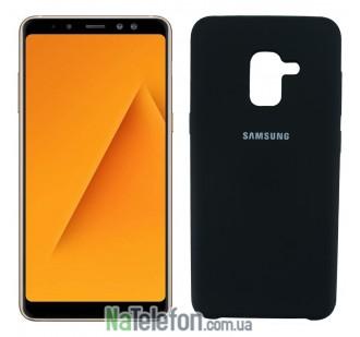 Чехол Original Soft Case для Samsung A8 plus 2018 (A730) Чёрный