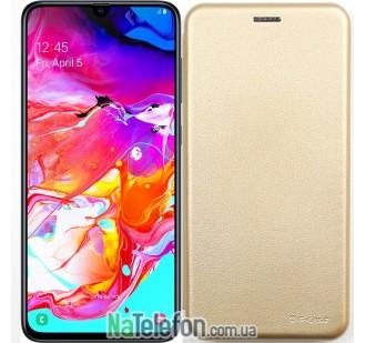 Чехол книжка U-Like Best для Samsung A705 Galaxy A70 2019 Gold