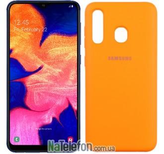Чехол Original Soft Case для Samsung A20 2019 Оранжевый