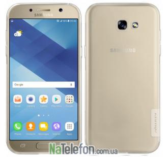 Чехол силиконовый прозрачный NILLKIN Nature TPU Samsung A720 (A7-2017) White