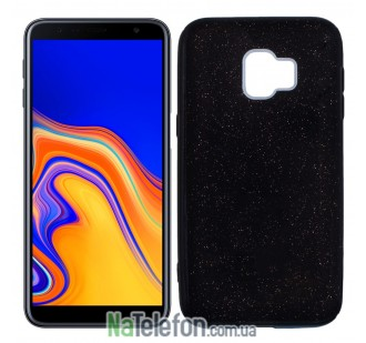 Силиконовый чехол Silicone 3in1 Блёстки для Samsung J610 Galaxy J6 Plus Black