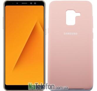 Чехол Original Soft Case для Samsung A8 plus 2018 (A730) Розовый