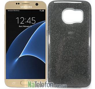 Силиконовый чехол Silicone 3in1 Блёстки для Samsung G930 Galaxy S7 Black