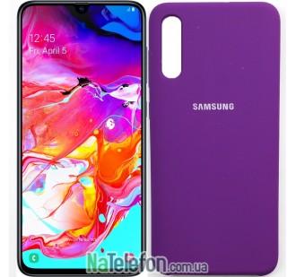 Чехол Original Soft Case для Samsung A70 2019 Фиолетовый