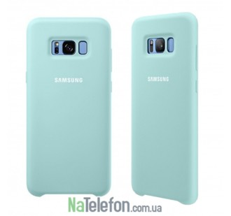 Оригинальный силиконовый чехол для Samsung G950 Galaxy S8 Бирюзовый
