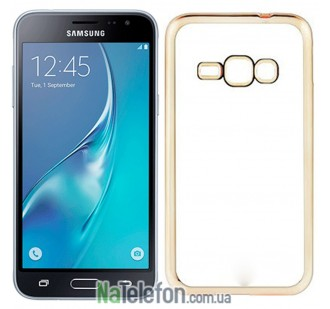 Чехол Electroplating TPU для Samsung J3 gold
