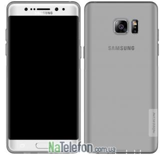 Чехол силиконовый прозрачный NILLKIN Nature TPU Samsung N930 Galaxy Note 7 Grey