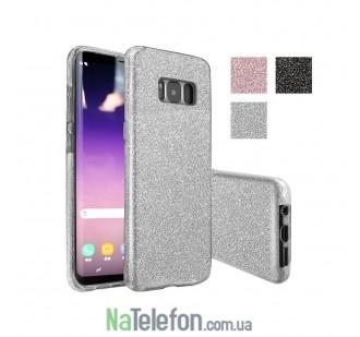 Силиконовый чехол Silicone 3in1 Блёстки для Samsung G950 Galaxy S8 White
