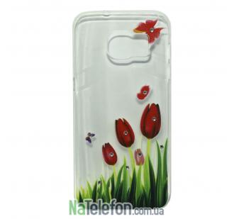 Чехол Lucent Diamond Case для Samsung G930 (S7) Tulips (Red)