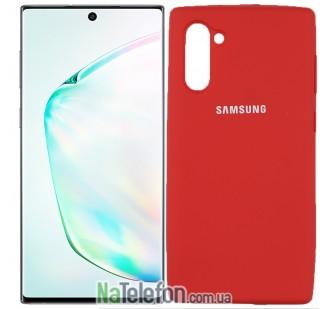 Чехол Original Soft Case для Samsung Note 10 Красный FULL