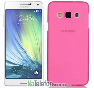 Ультра тонкий силиконовый чехол Remax 0.2 mm для Samsung A300 (A3) Pink