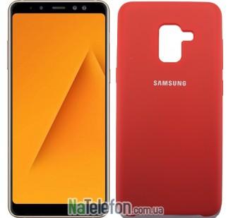 Чехол Original Soft Case для Samsung A8 plus 2018 (A730) Красный