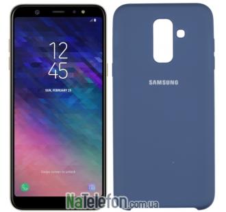 Чехол Original Soft Case Samsung A6+ 2018 Синий