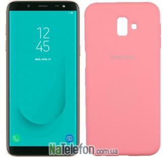 Чехол Original Soft Case для Samsung J6 Plus 2018 (J610) Розовый FULL