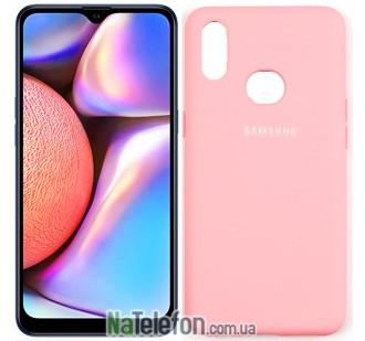 Чехол Original Soft Case для Samsung A10s 2019 Розовый FULL