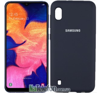 Чехол Original Soft Case для Samsung A10 2019 Тёмно Синий FULL