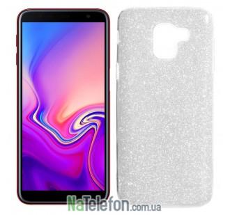 Силиконовый чехол Silicone 3in1 Блёстки для Samsung J610 Galaxy J6 Plus White