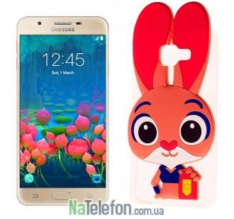 Силиконовый чехол Зверополис Rabbit Samsung J5 Prime