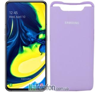 Чехол Original Soft Case для Samsung A80 2019 Лиловый FULL