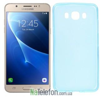 Силиконовый чехол Original Silicon Case Samsung J710 (J7-2016) Blue