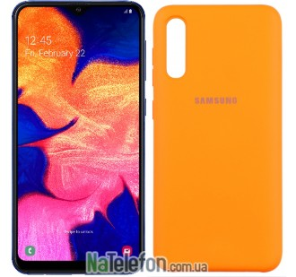 Чехол Original Soft Case для Samsung A50 2019 Оранжевый