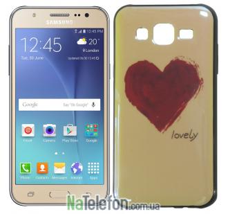 Чехол U-Like Picture series для Samsung J700 Heart Blue