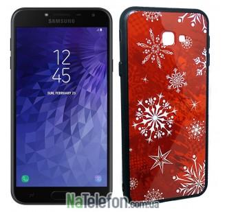 Чехол Silicone Christmas Case для Samsung J415 (J4 Plus) Snowflake