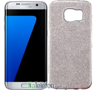 Силиконовый чехол Silicone 3in1 Блёстки для Samsung G930 Galaxy S7 Pink