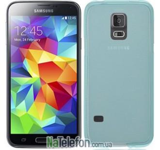 Ультра тонкий силиконовый чехол Remax 0.2 mm для Samsung G900 (S5) Blue