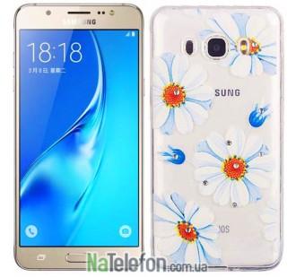 Чехол Lucent Diamond для Samsung J710 (J7-2016) Daisy (Blue)