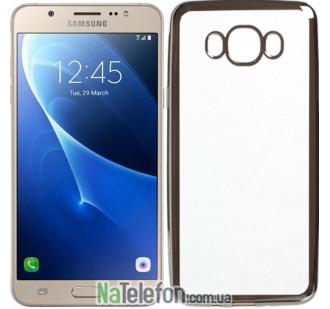 Чехол Electroplating TPU case для Samsung J710 (J7 2016) silver