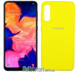 Чехол Original Soft Case для Samsung A30 2019 Желтый FULL
