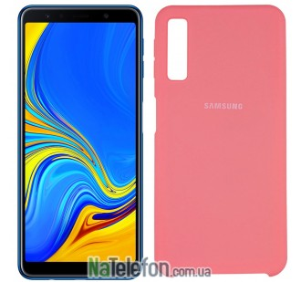 Чехол Original Soft Case для Samsung A7 2018 (A750) Розовый