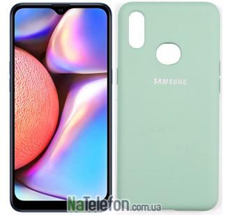 Чехол Original Soft Case для Samsung A10s 2019 Голубой FULL