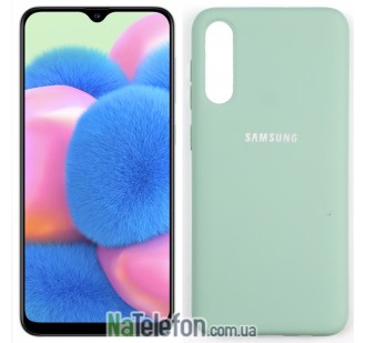 Чехол Original Soft Case для Samsung A30s 2019 Голубой FULL