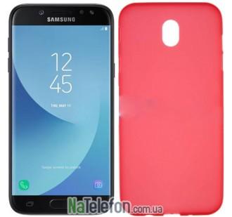 Чехол Original Silicone Case для Samsung J330 (J3-2017) Red