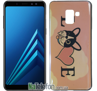 Чехол U-Like Picture series для Samsung A530 (A8 2018) Love Pink