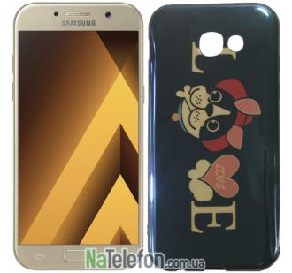 Чехол U-Like Picture series для Samsung A520 (A5 2017) Love Balck