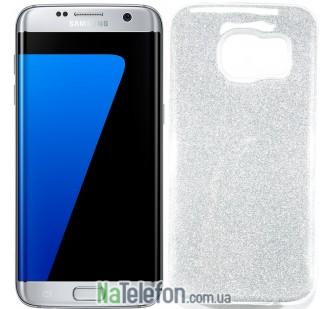 Силиконовый чехол Silicone 3in1 Блёстки для Samsung G930 Galaxy S7 White
