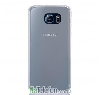 Ультра тонкий силиконовый чехол 0.3 mm для Samsung G920 S6 White