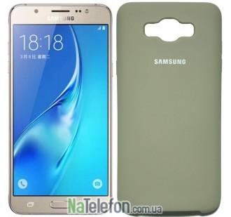 Чехол Original Soft Case для Samsung J710 (J7-2016) Пепельно серый