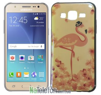 Чехол U-Like Picture series для Samsung J700 Flamingo