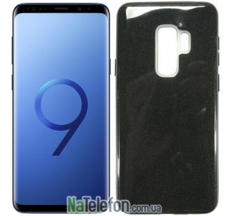 Силиконовый чехол Silicone 3in1 Блёстки для Samsung G965 Galaxy S9 Plus Black