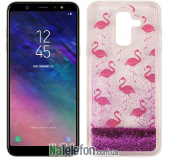 Чехол U-Like Aqua для Samsung A6 Plus 2018 (A605) Flamingo