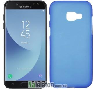 Силиконовый чехол Original Silicon Case Samsung A720 (A7-2017) Blue