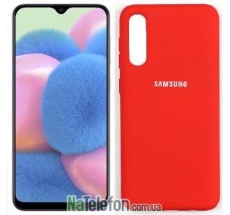 Чехол силиконовый оригинальный для Samsung A30s 2019 Красный FULL
