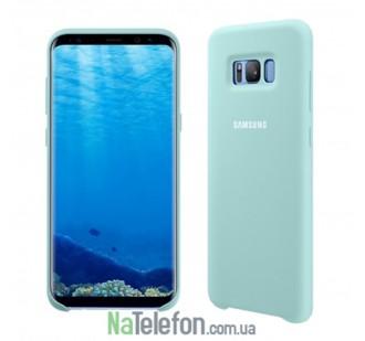 Оригинальный силиконовый чехол для Samsung G955 Galaxy S8 Plus Бирюзовый