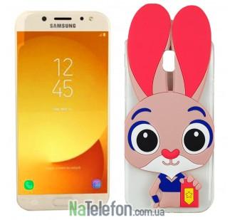 Силиконовый чехол Зверополис Rabbit Samsung J530 (J5-2017)