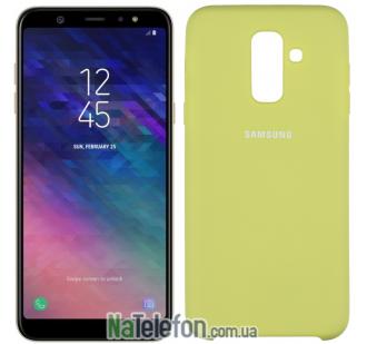 Чехол Original Soft Case Samsung A6+ 2018 Оливковый