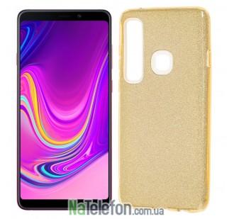 Чехол Silicone 3in1 Блёстки для Samsung A9 2018 (A920) Gold